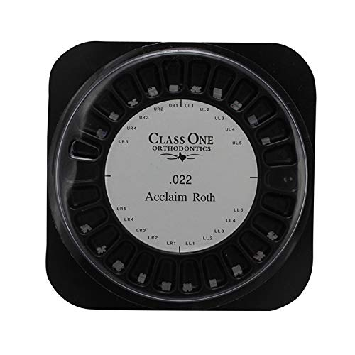 20 Sets/Pack 400 pcs of Ceramics Brackets Acclaim Roth Mini 0.022 With Hook 3,4,5