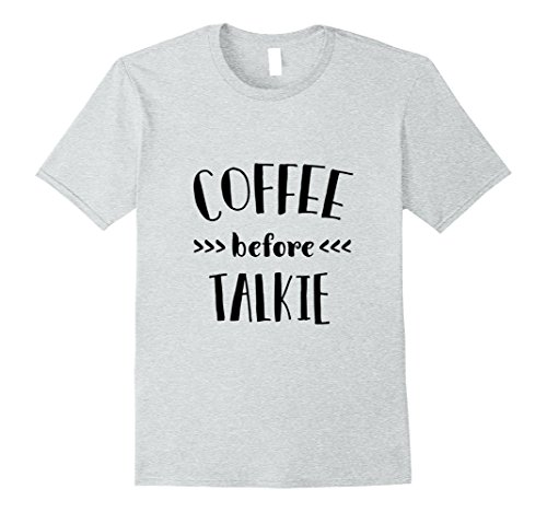 Mens Coffee Before Talkie T-Shirt - Funny Coffee Lover Women Men Large Heather Grey (Bff Halloween Costume Ideas)
