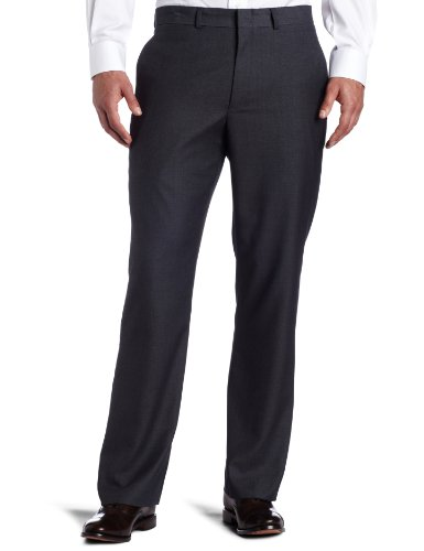 Kenneth Cole REACTION Men's Techni-Cole Stretch Slim Fit Suit Separate (Blazer, Pant, and Vest), Dark Grey, 38W x 34L