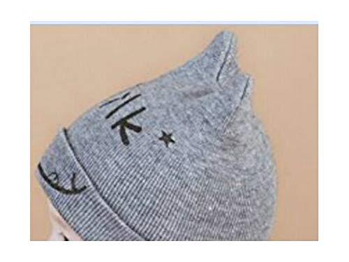 Yuchoi Sun Toddler Milk Print Cartoon Cat Knitting Cap Child