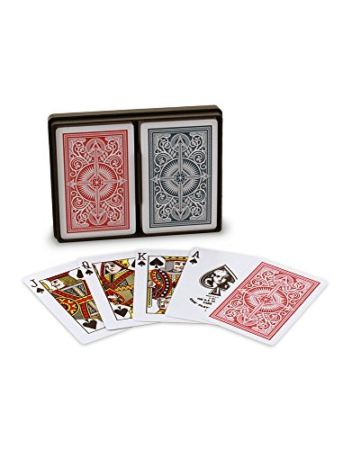 Index Poker Cards (KEM Arrow Red and Blue, Poker Size-Jumbo Index Playing Cards (Pack of 2))