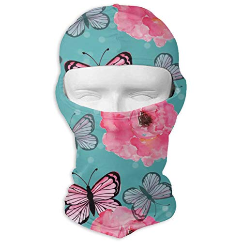 Windproof Balaclava, Colorful Rose Painting Patio for Hunting]()