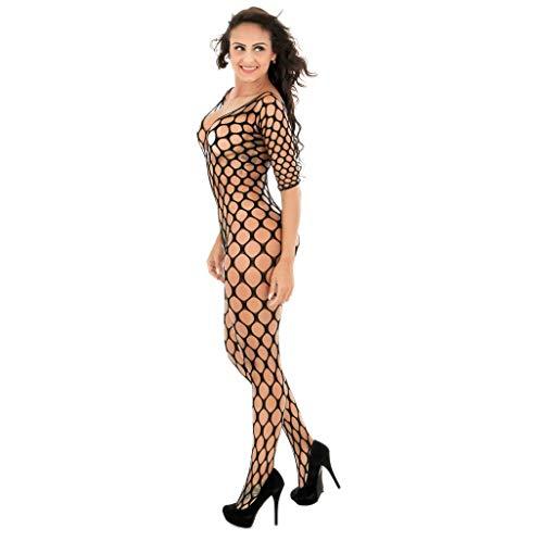 Trydoit Femmes RéSille Lingerie Body Bodydoll sous-VêTements VêTements D'éLasticité éVider