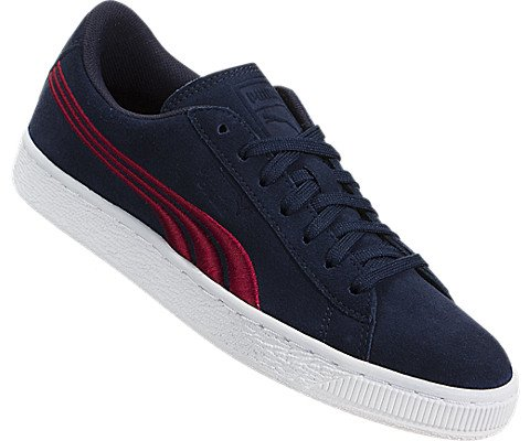 PUMA Unisex-Kids Suede Classic Badge, Peacoat-Toreador, 5 M US Big Kid by PUMA (Image #4)
