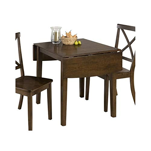 Jofran Double Drop Leaf Dining Table in Taylor Brown Cherry (Drop Leave Dining Table)