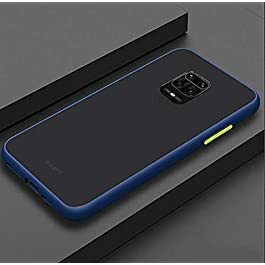 AE Mobile Accessories Back Cover for Poco M2 Pro Smoke Translucent Shock Proof Smooth Rubberized Matte Hard Back (Blue)