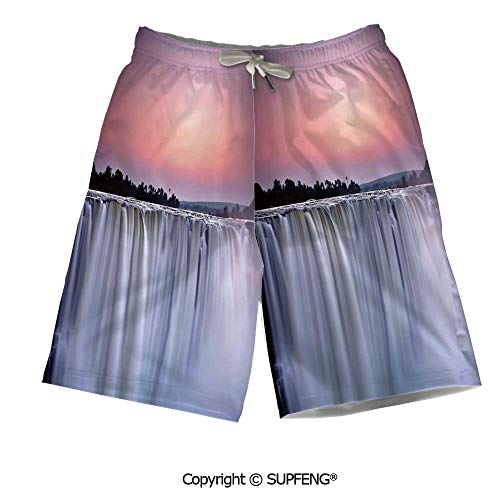 FashSam Mens Summer Swim Trunk Grand Majestic Waterfalls View Breathable - Majestic Necklace Set