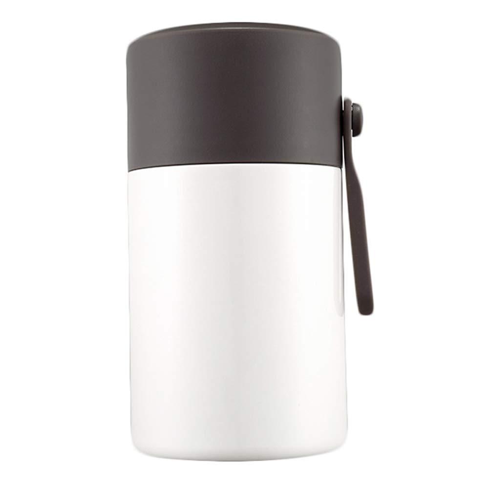 ROSEEH Schwelende Tasse Aus Edelstahl Hohe Kapazität Büroangestellter Student Kind Thermische Lunchbox,Weiß