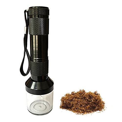 Flashlight Electric Tobacco weed Grinder Crusher Herb Spice Smoke Grinders as gift cutting machine for Smoking Pipes (Cutting Black Pipe)