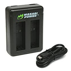 Wasabi Power Dual Battery Charger For Gopro Hero5, Hero6 Black