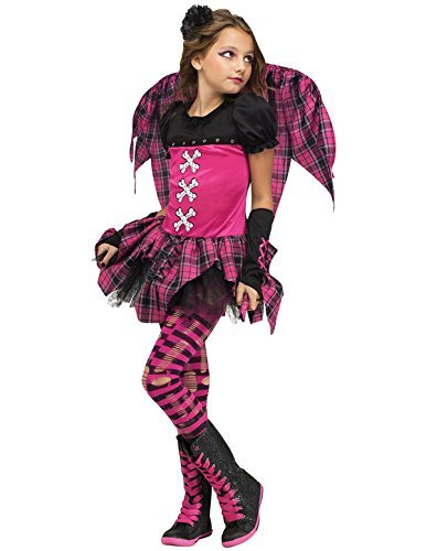 [Pink Punk Fairy Child Costume (Large)] (Halloween Costumes With Pink Hair)