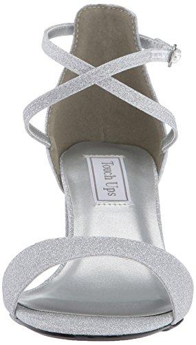 Scarpa Da Donna Con Tacco Sandalo Con Tacco In Argento