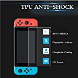 [2-Pack] Kingsource Nintendo Switch Tempered Glass Screen Protector - Anti Scratch Premium HD Clear 9H Hardness Anti-Bubble HD Clear Screen Protector Protective Film for Nintendo Switch 2017