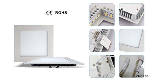 CMC LED Light Lamp� Recessed Ceiling Lights, Square Ultrathin LED Ceiling Lig... - Downlight Semi Flush