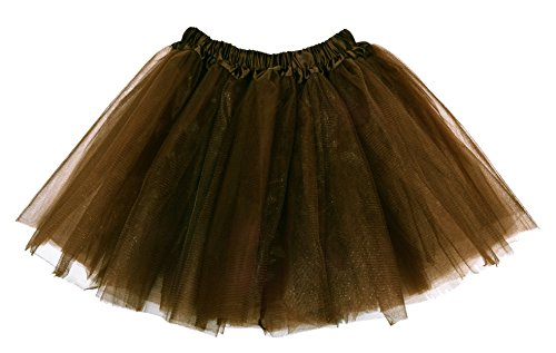 [Girls Tutu Skirt Assorted Colors Free Size Coffee] (Kids Tutu)