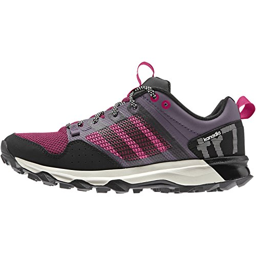 Adidas Performance Womens Kanadia 7 Tr W Scarpe Da Trail Running Color Cenere Viola / Nero / Grassetto Rosa