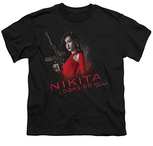 Nikita Looks Do Kill Youth T-Shirt Medium Black