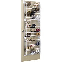 Whitmor Over The Door Shoe Rack - 36 Pair - Storage Organizer