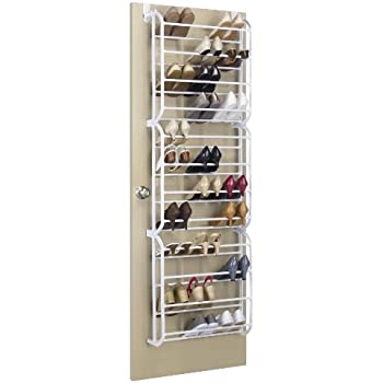 whitmor the door shoe rack 36 pair white