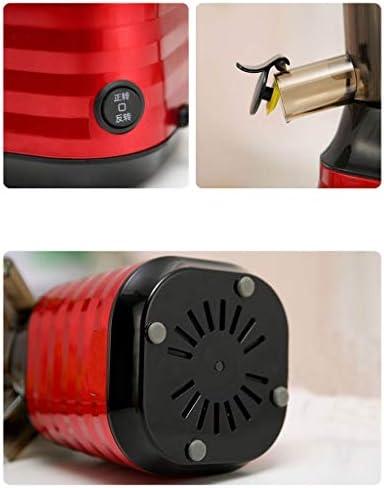 Sapcentrifuge, gemakkelijk te reinigen, stille motor, sapcentrifuge met koude druk, voor groenten en fruit, BPA-vrij, 43 omw/min extrusie bij lage snelheid, hoge sap van 98%.