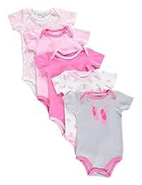 "Luvable Friends Baby Girls' ""Ballet Princess"" 5-Pack Bodysuits"