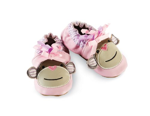 Mud Pie Baby-Girls Newborn Pink Monkey Shoe Socks