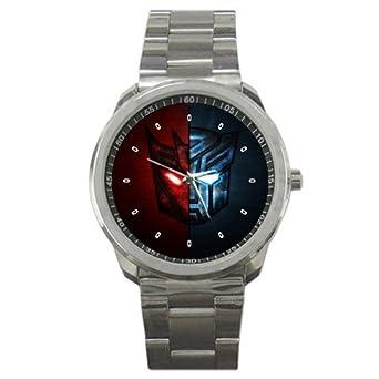 amazon com transformer autobot vs decepticon logo sport metal watch
