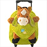 Kreative Kids Plush Animal Rolling Backpack, Hot Pink Horse