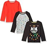 Amazon Brand - Spotted Zebra Big Boys' 3-Pack Long-Sleeve T-Shirts, Video Gamer, Medium (8)