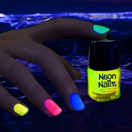 partylights novedad fiesta Diversión Novedad brilla en la oscuridad), neón esmalte de uñas: Amarillo