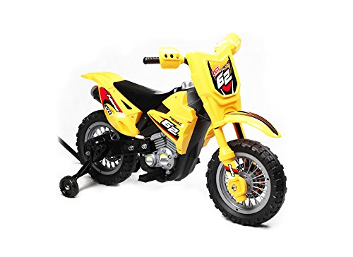 Best Ride On Cars Mini Dirt Bike Ride On 6V, Yellow