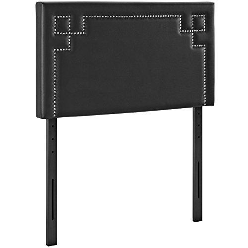 Modway Josie Twin Upholstered Vinyl Headboard in Black