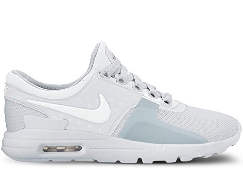 Nike Air Max Zero Damen Laufschuhe Weißes reines Platin 104