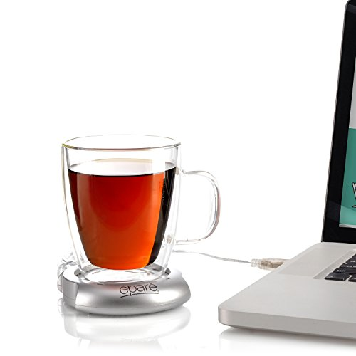Eparé USB Mug Warmer for Desktop Warming of Tea or Coffee Cups use with Laptop (Cheap Hot Plates compare prices)