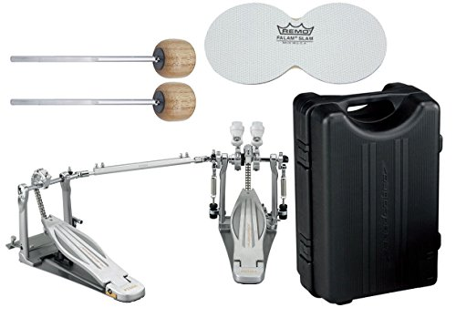 Impact Drum Cases (TAMA HP910LWN Speed Cobra 910 Double Bass Drum Pedal w/ Case, Impact Patches, and Extra Wood Beaters)