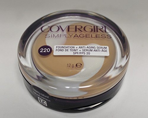 Covergirl Simply Ageless Foundation Anti Aging Serum 220 Creamy Natural