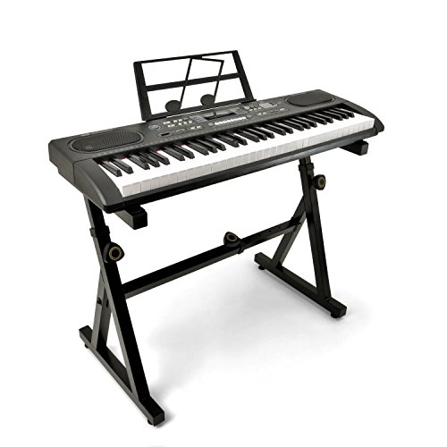 Plixio 61 Key Electronic Keyboard Piano with LED Display and
