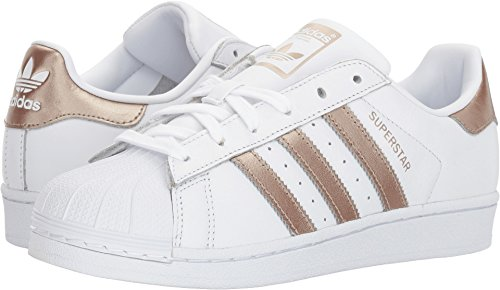 Adidas Originals Women's Superstar W Sneaker, White/Cyber Gold/White, 6.5 M US