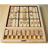 Cc-life Deluxe Wooden Sudoku Board Game - High Quality Wooden Table Game