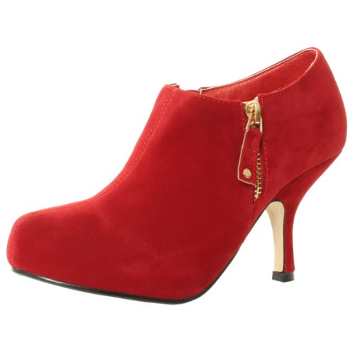 TILLY COURT ANKLE RED CA81 LONDON BY BOOTS CONCEALED HEEL KITTEN MID ZIPS WOMENS HIGH BOOTIES SHOES PLATFORM UK Rwq5pgP5