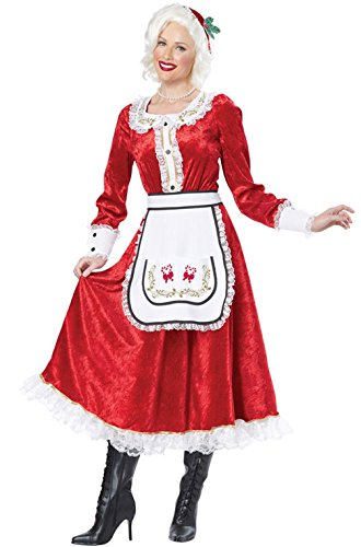 [Mememall Fashion Classic Mrs. Santa Claus Christmas Adult Costume] (Adult Vintage Witch Costumes)