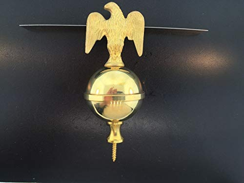 (KEVNATSS Tall Case Grandfather Clock Eagle Finial in Solid Brass)