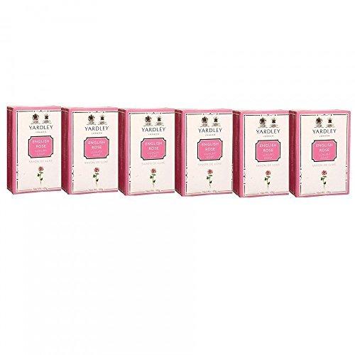 Yardley English Rose Luxury Soap, 100g (Pack of 6) by Yardley