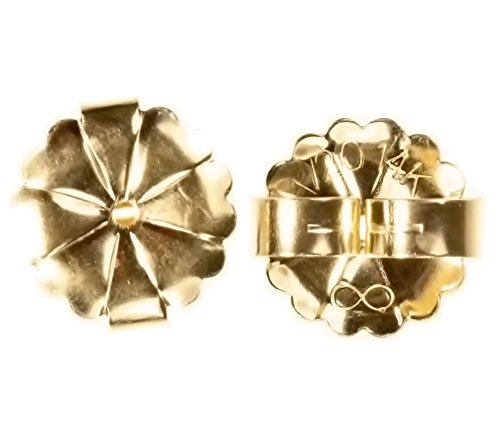 (14K Gold Fill Extra Jumbo Starburst Earring Back 10mm 1-Pair)