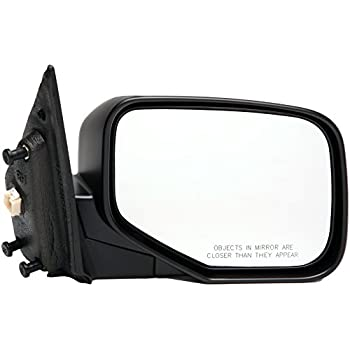 Drivers Power Side View Mirror Textured Replacement for Honda Pickup Truck 76250-SJC-A01ZF AUTOANDART