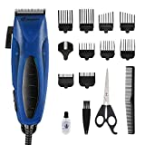 SUPRENT Hair Clippers for Men, Corded Hair Cutting Kit for Men, Hair Trimmer with 28 Precise Cutting Length, Hair Cutting Machine for Family Use (Blue)