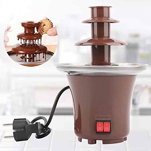 3-layer electric chocolate fountain hot pot Global cuisine Belgian chocolate fountain hot pot big set (Chocolate Global Cuisine)