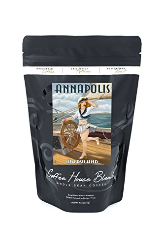 Annapolis, Maryland - Pinup Girl Sailing (8oz Whole Bean Small Batch Artisan Coffee - Bold & Strong Medium Dark Roast w/ - Annapolis Kids