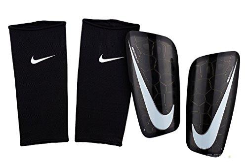 Nike Mercurial Lite Espinilleras de fútbol, Negro, Mediano