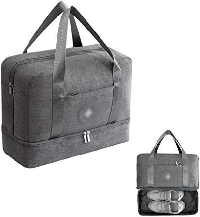 ゴルフの服バッグ防水ウェアラブルゴルフシューズバッグユニセックススタイルのナイロン素材、環境保護オプションの5色 HMMSP (Color : Gray)